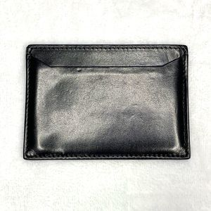 Prada Bags - PRADA Vintage Black Smooth Leather Card Case
